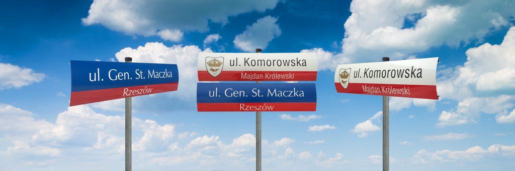 Tablica z nazwą ulicy