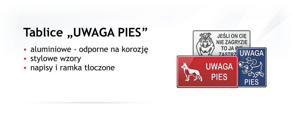 tabliczka uwaga pies producent