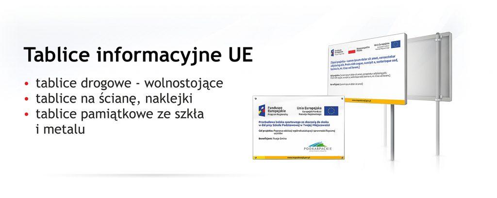 tablice unijne informacyjne i pamiątkowe producent